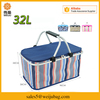 Large capacity aluminium foil collapsible thermostat bag cooler bag insulated