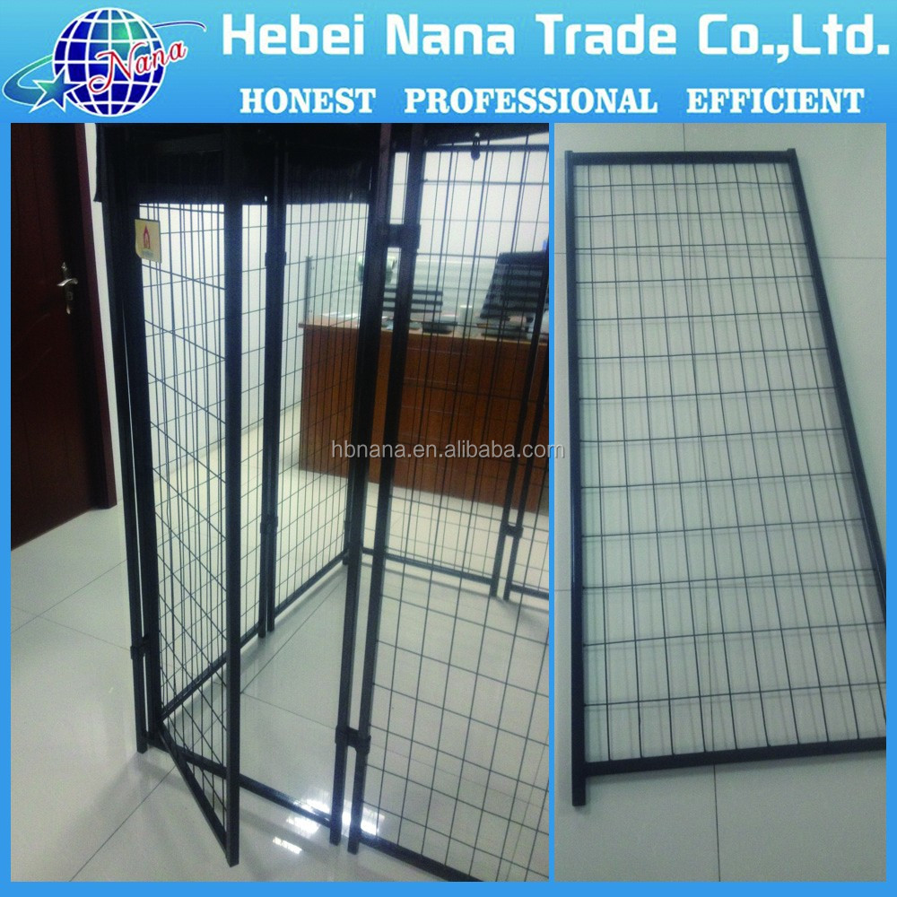 Metal Welded Wire Dog Cage Kennel / dog play pen with top cover