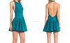 Red Designer One Piece Fashion Style Sexy Lady Emerald Halter Backless Sleeveless Party Dress