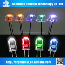 5mm pink round /straw hat led diodes