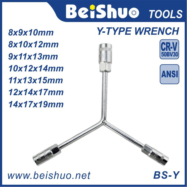 Cross Rim Wrench Four Way Wheel Wrenches With High Quality Car Repair Tools tire wrench