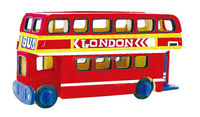 toywins UK double deck bus kids wooden toys preschool educational toys