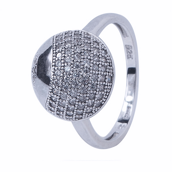 gorgeous white cz stone ring white gold plated ring for girl friend
