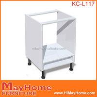 White melamine modern oven kitchen cabinet unit carcass
