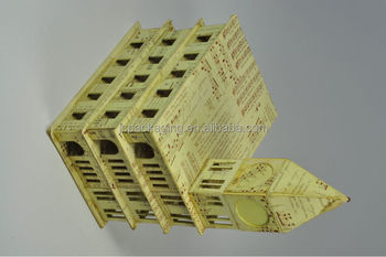 Handmade craft from waste material decoration punch craft for Waste material handmade craft