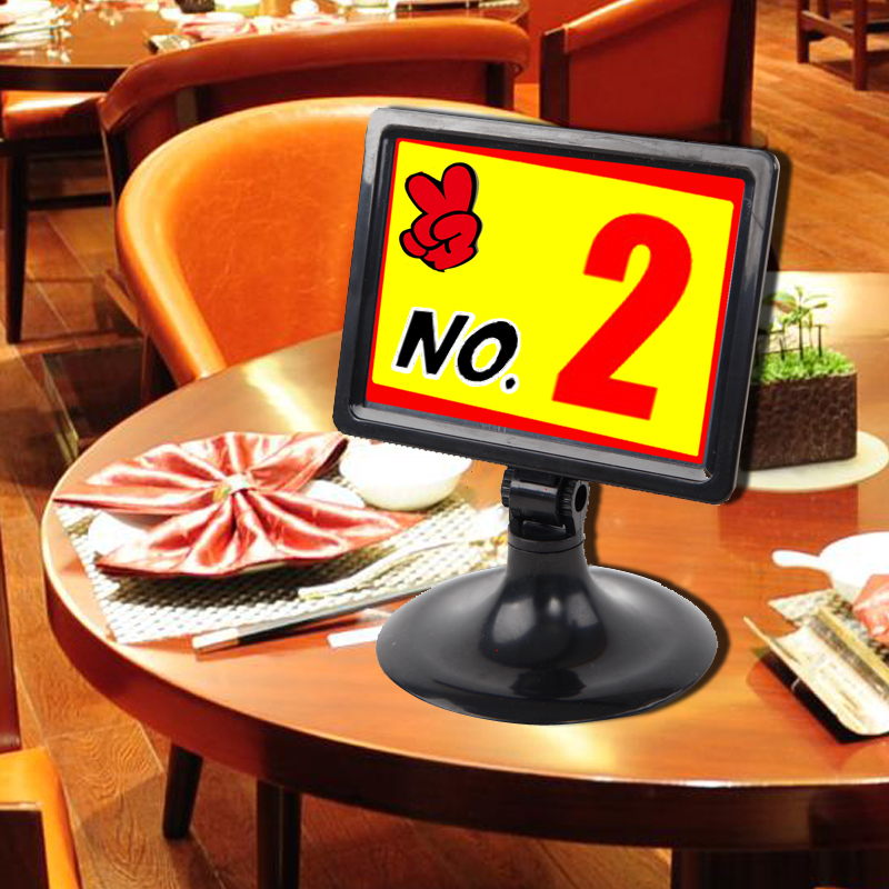 Sviao Plastic Table Number Sign Restaurant Table Number Card Holder - Restaurant table number signs