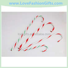 Wholesale Red And White Plastic Crutch Christmas Tree Hanging Decorations