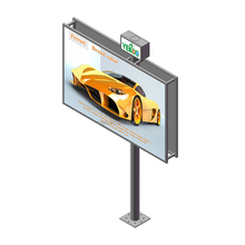 Outdoor highway traffic signs double side billboard advertising