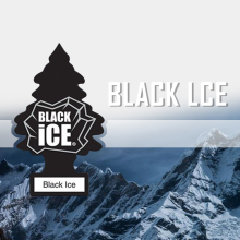 Little Trees Black Ice paper car Air Freshener