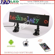Glass window led display and LED car rear window display