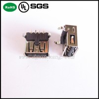 PBT LCP USB 2.0 SMT 180Degree USB Connector 4Pin