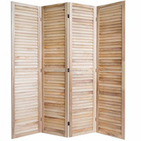 Screen wood room divider 4 panel partition screens furniture
