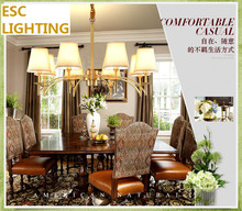 3 6KW American style 8 arms gold color hotel brass chandeliers for sale