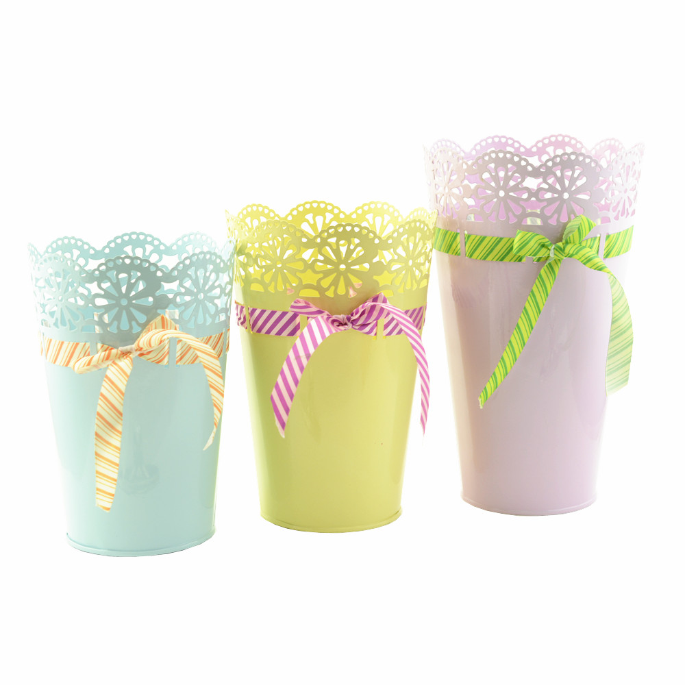 hot classical wedding wave pattern flower pot for centerpieces/flower stand