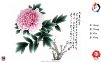 Good quality hot selling antique oil painting of flower