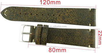 22 mm vintage style leather strap