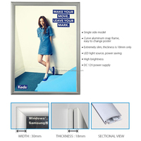 advertising aluminum led snap poster frame for rail station