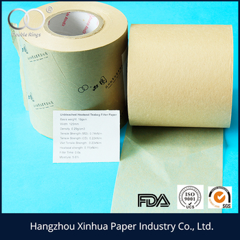 high quality lowest price 18gsm- 26gsm unbleached brown tea bag filter paper