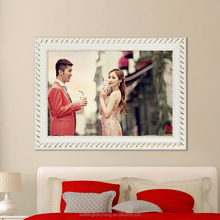 Chic new European style big wedding wood photo frames hanging on wall