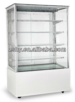 Japanese type four layers right-angle cake cabinet display