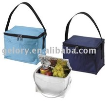 420D nylon portable wine cooler bag for double zipper
