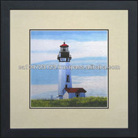37114-Lighthouse in Summer-- Susho, King Silk Art 100% Handmade Silk Embroidery