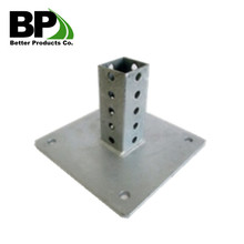Galvanized steel square post base plate