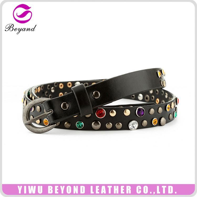 Modern style personalized studded jean belt manufacturer