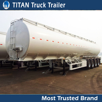 Titan High quality Tri axle 45000 liters fuel tanker trailer with ladder