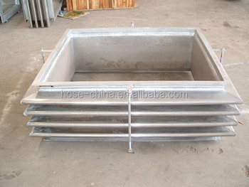 Stainless steel Rectangular Bellows Expansion Joints with tie rods