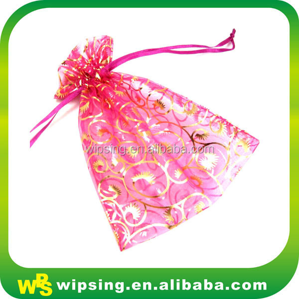 Diy christmas gift bag organza fabric christmas gift bag