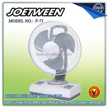 12inch Electric rechargeable new model table fan F71