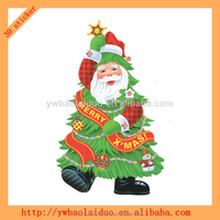 2014 hot sale 3d christmas wreath sticker