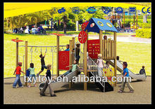 Kids Outdoor wooden playground equipment for sale LT-2069A