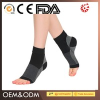 Sports neoprene orthopedic ankle support foot sleeve / lace up ankle fracture brace / CE FDA approved compression ankle support