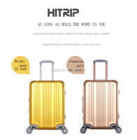 portable and beautiful aluminum bags trolley suitcase