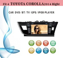 gps software for car stereo fit for Toyota Corolla right hand drive 2014 with radio bluetooth gps tv
