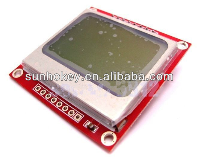 Nokia 5110 LCD Module White Backlight 84x48 Pixel Resolution For Ardu 51 PIC AVR STM32 MSP430 LPC2148
