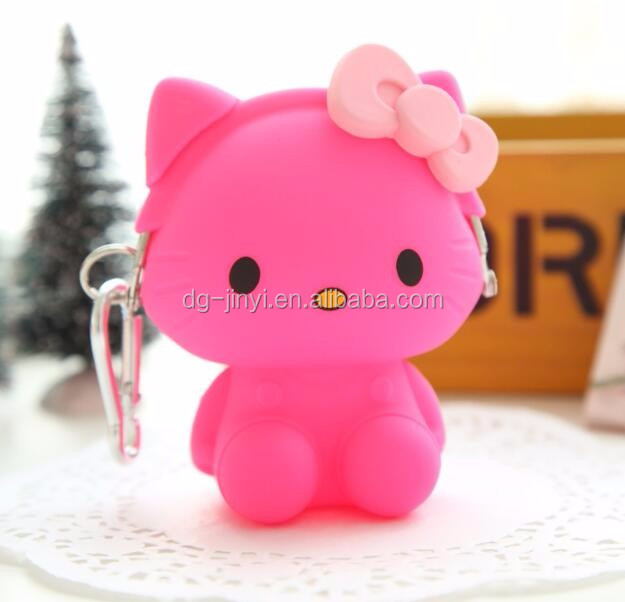 ROHS Advertising gift hello kitty silicone coin purse silicone change purse