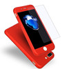 Ultra thin Hard Hybrid PC 360 degree Protective Phone Case with Tempered for iphone 7 7 plus 6 6 plus