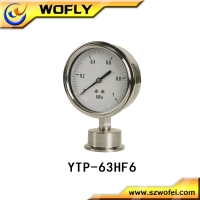 air compressor pressure gauge/gage for food and medichine manufacturing industry