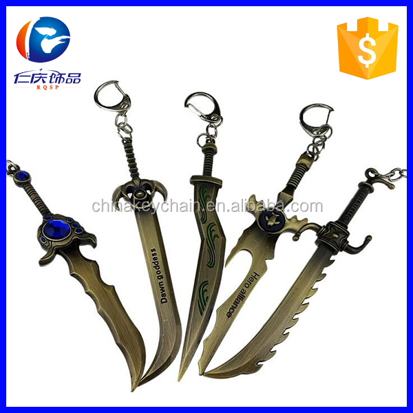 Animation game LOL hero weapon key chain
