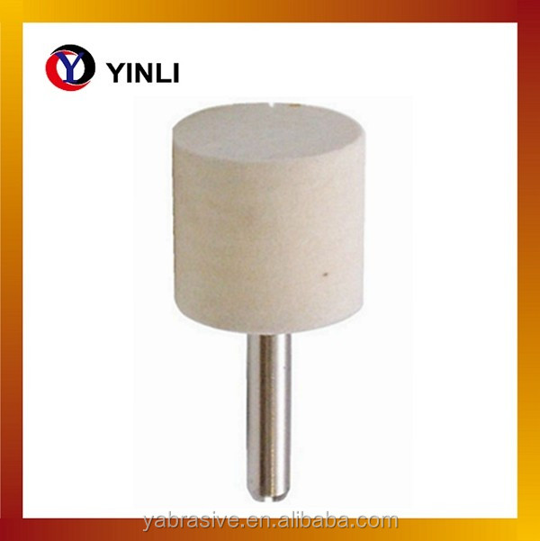 buffing Cylindrical 3mm shank polishing Felt Bobs