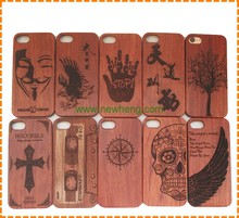 Real engraved bamboo wood mobile phone case for iphone 7 7 plus