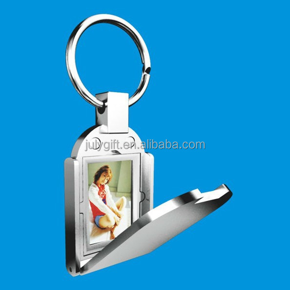 custom photo frame 3d metal keychain