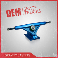High grade long skateboard truck with anodizing finish , 7inch Pro quality skate board truck made by leading factory in China