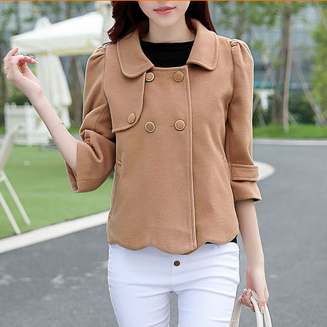 D23712Q 2014 new designs autumn Korean fashion preppy style women short coat
