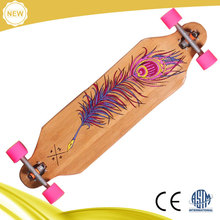 Custom High Quality Bamboo skateboard longboard with graphics,bamboo skateboard wholesale