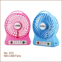 2016 Hot-Sale high performance DC 5V portable mini USB fan, rechargeable USB fan, USB mini fan