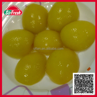 High-quality canned yellow peach in syrup